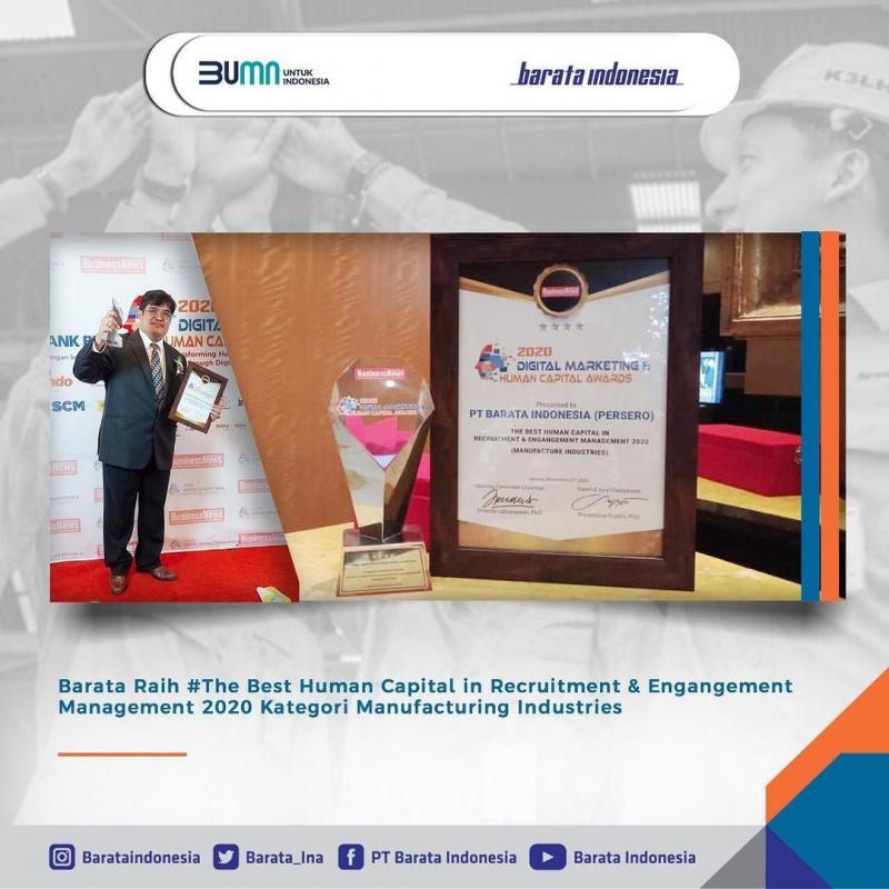 Barata Indonesia Raih Penghargaan SDM Terbaik 2020