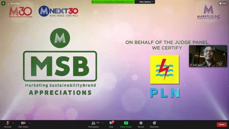 PLN Raih Marketing Sustainibility Brand Award