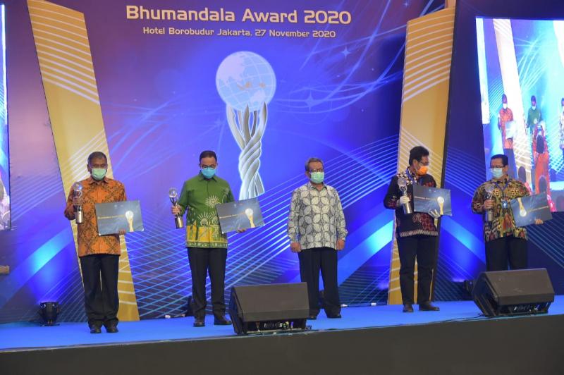 Kementerian ESDM Raih Emas dan Geoportal Terbaik Bhumandala Award 2020