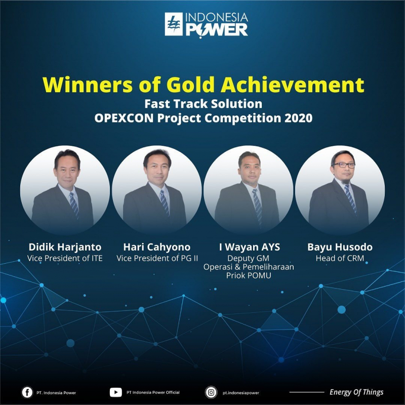 OPEXCON Project Competition 2020 : Indonesia Power Menuai Gold dan Silver Achievement